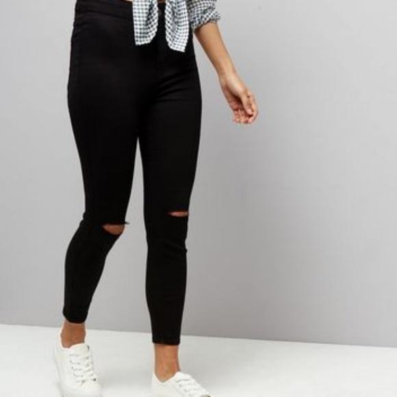 809078a72e7 New Look High Waist Ripped Knee Skinny Jeans. M_5b2ffd222e1478ea344b9993